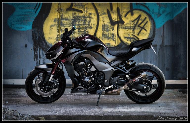 The Kawasaki Z1000 motorcycle