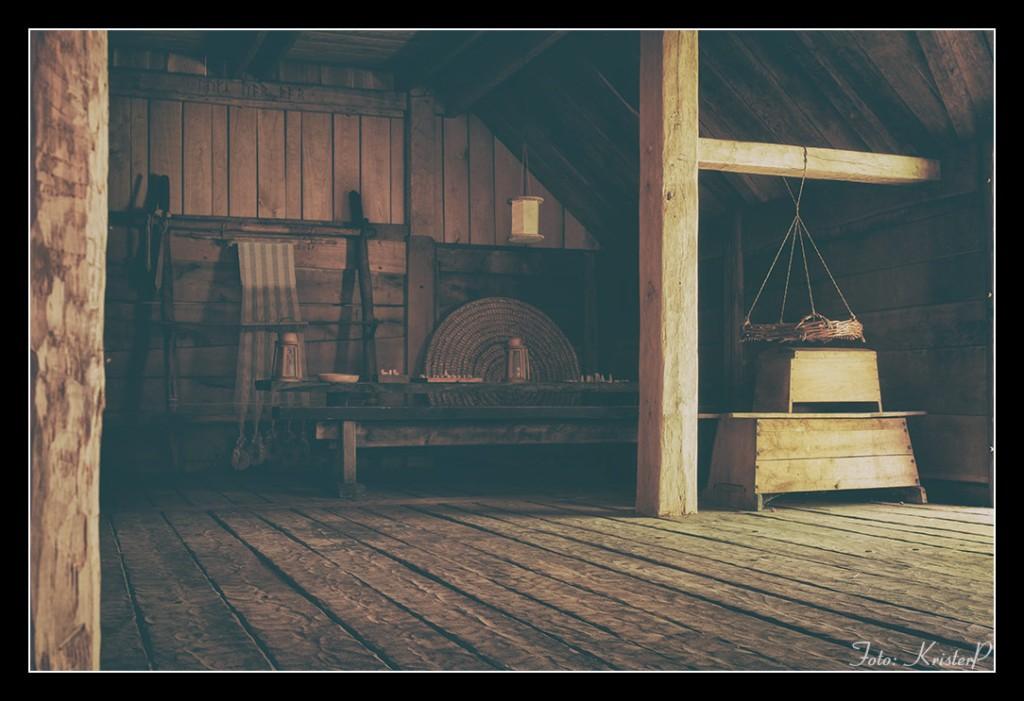 Inside the viking longhouse at Trelleborgen, Sweden